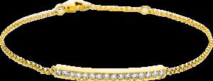 Armband Brogle Selection Casual aus 750 Gelbgold mit 16 Brillanten (0,51 Karat)