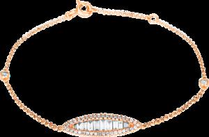 Armband Brogle Selection Casual aus 750 Roségold mit 50 Diamanten (0,64 Karat)