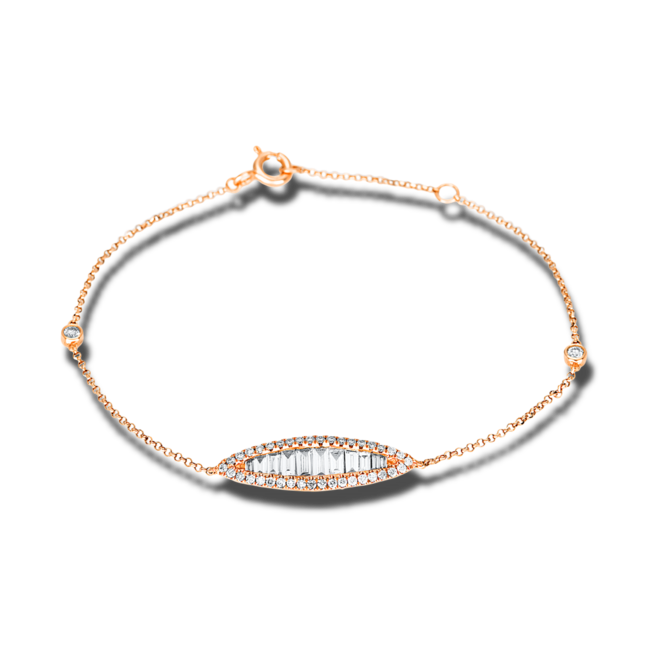 Armband Brogle Selection Casual aus 750 Roségold mit 50 Diamanten (0,64 Karat) bei Brogle