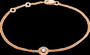 Armband Brogle Selection Casual aus 750 Roségold mit 15 Brillanten (0,17 Karat) Größe 18 cm