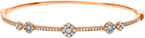 Armreif Brogle Selection Casual aus 750 Roségold mit 71 Brillanten (0,67 Karat)