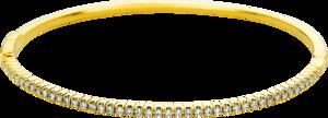Armreif Brogle Selection Casual aus 750 Gelbgold mit 45 Brillanten (0,6 Karat)