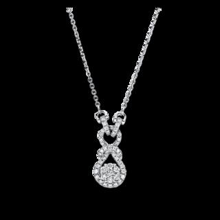 Brogle Selection Halskette mit Anhänger Basic Würfel 4F505W8-1