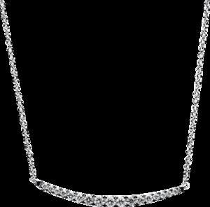 Halskette mit Anhänger Brogle Selection Casual aus 585 Weißgold mit 17 Brillanten (0,15 Karat)