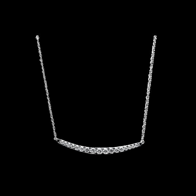Halskette mit Anhänger Brogle Selection Casual aus 585 Weißgold mit 17 Brillanten (0,15 Karat) bei Brogle