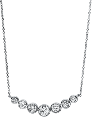 Halskette mit Anhänger Brogle Selection Casual aus 750 Weißgold mit 7 Brillanten (0,52 Karat)