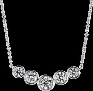 Halskette mit Anhänger Brogle Selection Casual aus 750 Weißgold mit 5 Brillanten (0,51 Karat)