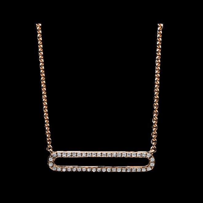 Halskette mit Anhänger Brogle Selection Casual aus 585 Roségold mit 44 Brillanten (0,12 Karat) bei Brogle