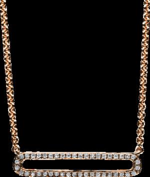 Halskette mit Anhänger Brogle Selection Casual aus 585 Roségold mit 44 Brillanten (0,12 Karat)
