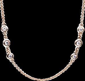 Halskette Brogle Selection Casual aus 750 Roségold mit 24 Brillanten (1,06 Karat)