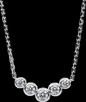 Halskette mit Anhänger Brogle Selection Casual aus 585 Weißgold mit 5 Brillanten (0,39 Karat)