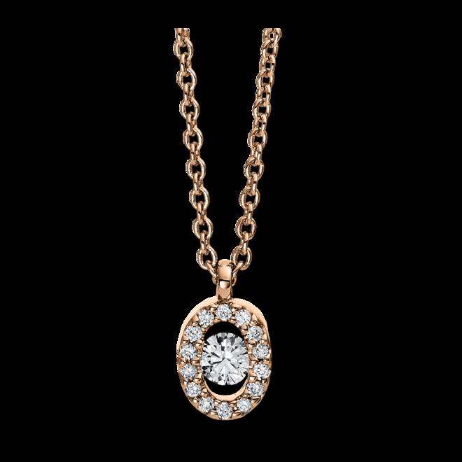 Halskette mit Anhänger Brogle Selection Casual aus 750 Roségold mit 15 Brillanten (0,1 Karat) bei Brogle