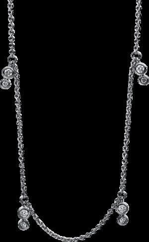 Halskette mit Anhänger Brogle Selection Casual aus 750 Weißgold mit 14 Brillanten (0,22 Karat)