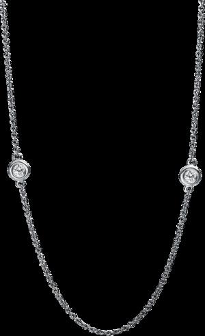 Halskette Brogle Selection Casual aus 750 Weißgold mit 11 Brillanten (0,59 Karat)