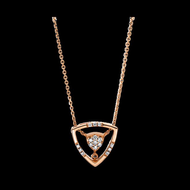 Halskette mit Anhänger Brogle Selection Casual aus 750 Roségold mit 16 Brillanten (0,1 Karat) bei Brogle
