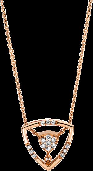 Halskette mit Anhänger Brogle Selection Casual aus 750 Roségold mit 16 Brillanten (0,1 Karat)