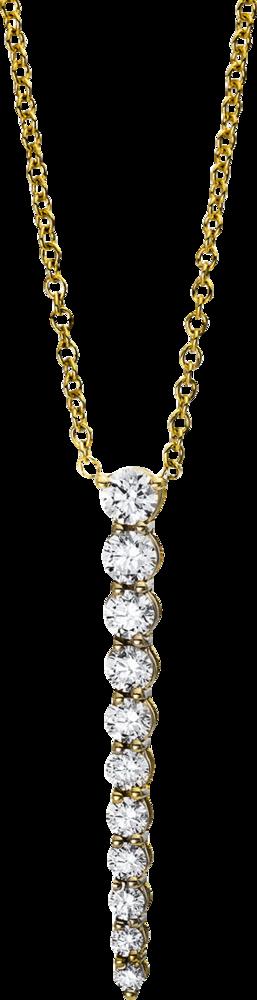 Halskette mit Anhänger Brogle Selection Casual aus 750 Gelbgold mit 11 Brillanten (0,81 Karat)