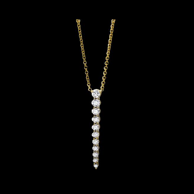 Halskette mit Anhänger Brogle Selection Casual aus 750 Gelbgold mit 11 Brillanten (0,81 Karat) bei Brogle