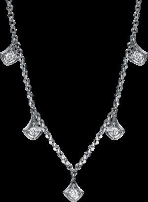 Halskette Brogle Selection Casual aus 750 Weißgold mit 7 Brillanten (0,13 Karat)