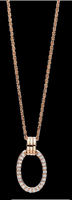 Halskette mit Anhänger Brogle Selection Casual aus 750 Roségold mit 24 Brillanten (0,19 Karat)
