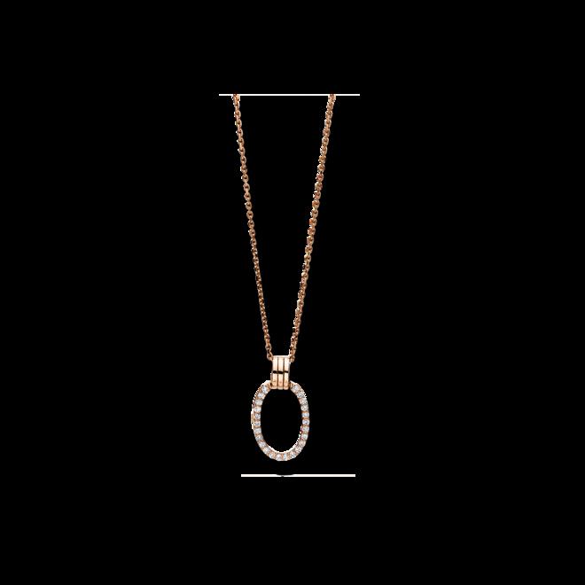 Halskette mit Anhänger Brogle Selection Casual aus 750 Roségold mit 24 Brillanten (0,19 Karat) bei Brogle