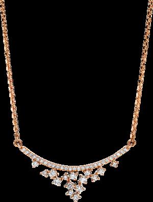 Halskette mit Anhänger Brogle Selection Casual aus 750 Roségold mit 42 Brillanten (0,25 Karat)