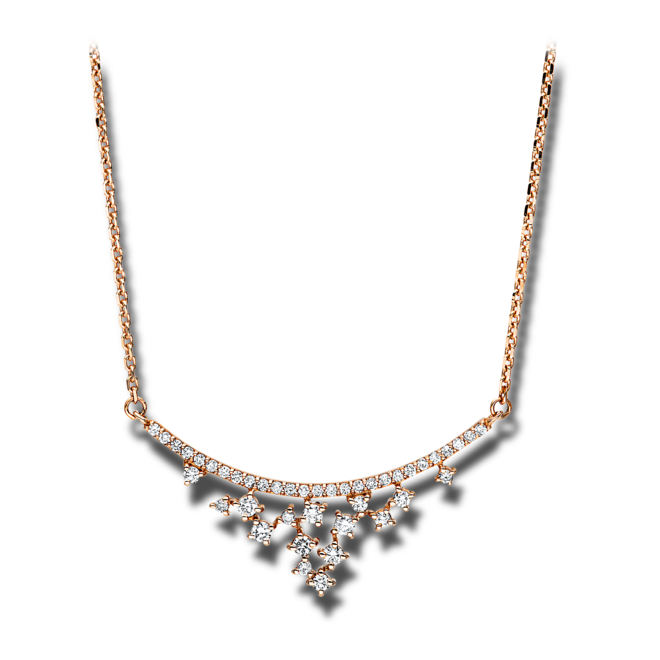 Halskette mit Anhänger Brogle Selection Casual aus 750 Roségold mit 42 Brillanten (0,25 Karat) bei Brogle