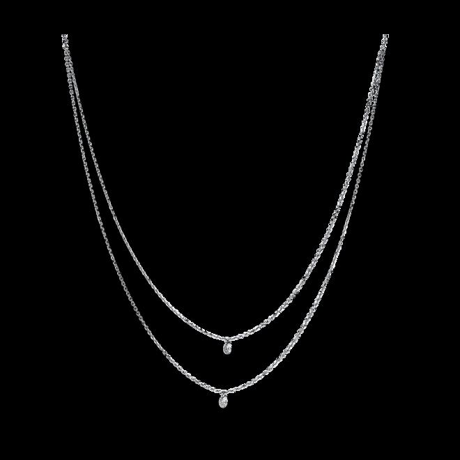 Halskette mit Anhänger Brogle Selection Casual aus 750 Weißgold mit 2 Brillanten (0,25 Karat) bei Brogle