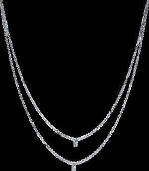Halskette mit Anhänger Brogle Selection Casual aus 750 Weißgold mit 2 Brillanten (0,25 Karat)
