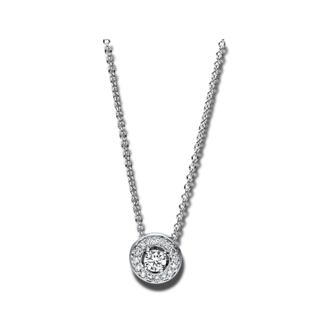 Halskette mit Anhänger Brogle Selection Casual aus 750 Weißgold mit 17 Brillanten (0,17 Karat) bei Brogle