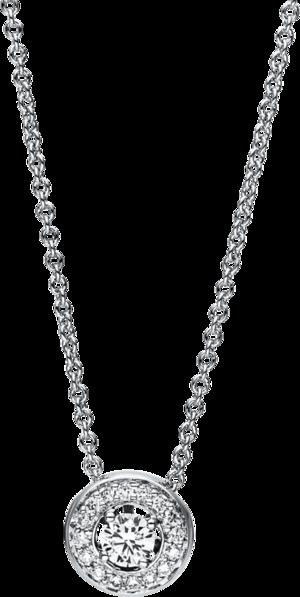 Halskette mit Anhänger Brogle Selection Casual aus 750 Weißgold mit 17 Brillanten (0,17 Karat)