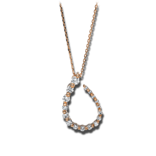 Brogle Selection Halskette mit Anhänger Casual 4F246R8-1