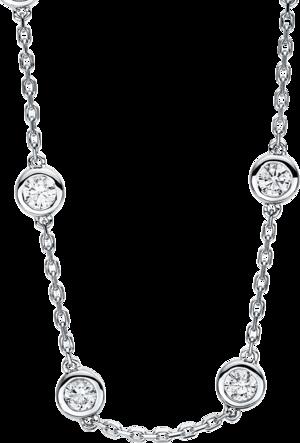 Halskette Brogle Selection Casual aus 585 Weißgold mit 16 Brillanten (4,1 Karat)