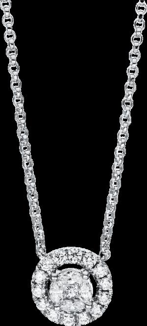 Halskette mit Anhänger Brogle Selection Casual aus 750 Weißgold mit 23 Brillanten (0,7 Karat)