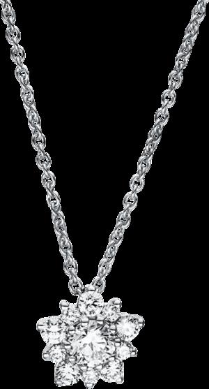 Halskette mit Anhänger Brogle Selection Casual aus 750 Weißgold mit 11 Brillanten (0,36 Karat)