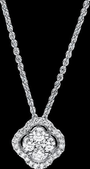 Halskette mit Anhänger Brogle Selection Casual aus 750 Weißgold mit 29 Brillanten (0,3 Karat)