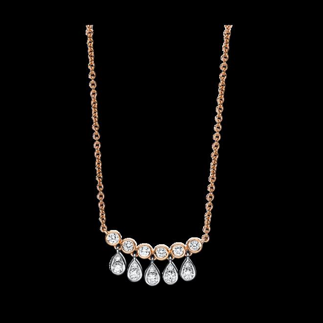 Halskette mit Anhänger Brogle Selection Casual aus 750 Roségold und 750 Weißgold mit 16 Brillanten (0,35 Karat) bei Brogle