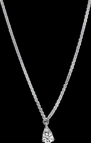 Halskette mit Anhänger Brogle Selection Casual aus 750 Weißgold mit 2 Brillanten (0,14 Karat)