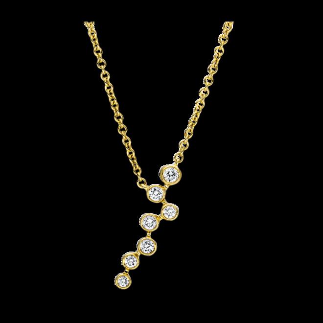 Halskette mit Anhänger Brogle Selection Casual aus 750 Gelbgold mit 7 Brillanten (0,14 Karat) bei Brogle