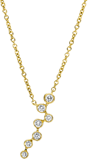 Halskette mit Anhänger Brogle Selection Casual aus 750 Gelbgold mit 7 Brillanten (0,14 Karat)