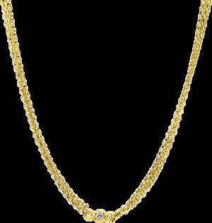 Halskette Brogle Selection Casual aus 750 Gelbgold mit 5 Brillanten (0,09 Karat)