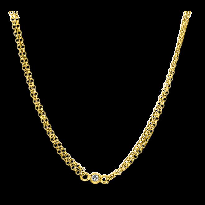 Halskette Brogle Selection Casual aus 750 Gelbgold mit 5 Brillanten (0,09 Karat) bei Brogle