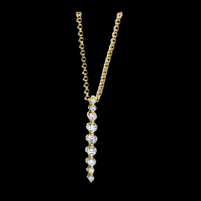 Halskette mit Anhänger Brogle Selection Casual aus 750 Gelbgold mit 9 Brillanten (0,28 Karat) bei Brogle