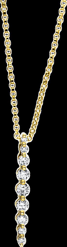 Halskette mit Anhänger Brogle Selection Casual aus 750 Gelbgold mit 9 Brillanten (0,28 Karat)