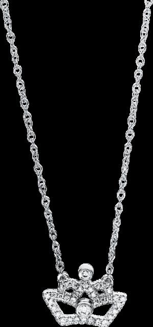 Halskette mit Anhänger Brogle Selection Casual aus 750 Weißgold mit 38 Brillanten (0,15 Karat)