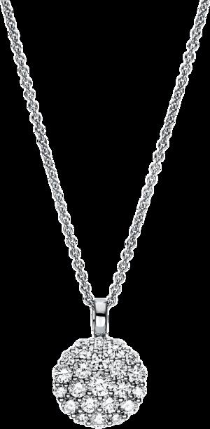 Halskette mit Anhänger Brogle Selection Casual aus 750 Weißgold mit 22 Brillanten (1,01 Karat)