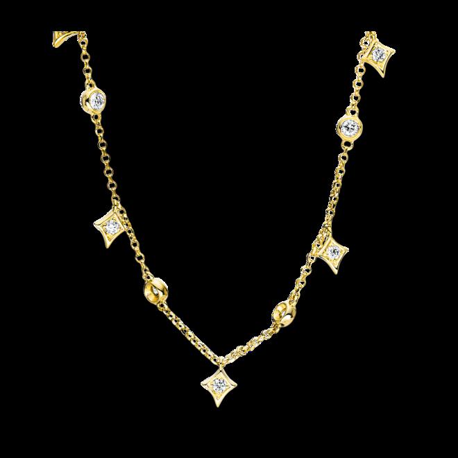Halskette mit Anhänger Brogle Selection Casual aus 750 Gelbgold mit 13 Brillanten (0,26 Karat) bei Brogle