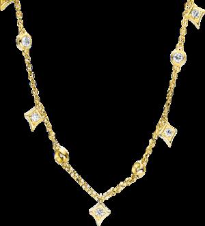 Halskette mit Anhänger Brogle Selection Casual aus 750 Gelbgold mit 13 Brillanten (0,26 Karat)