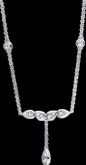 Halskette mit Anhänger Brogle Selection Casual aus 750 Weißgold mit 14 Brillanten (0,23 Karat)