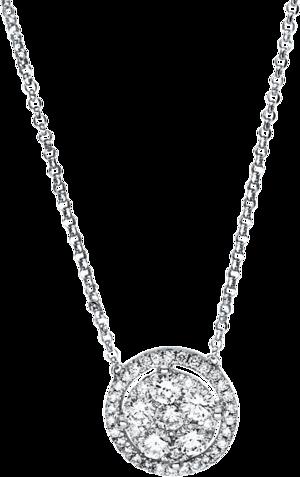 Halskette mit Anhänger Brogle Selection Casual aus 750 Weißgold mit 43 Brillanten (0,63 Karat)